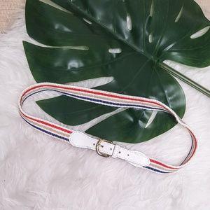 5/$20 Vintage Striped Dress Belt